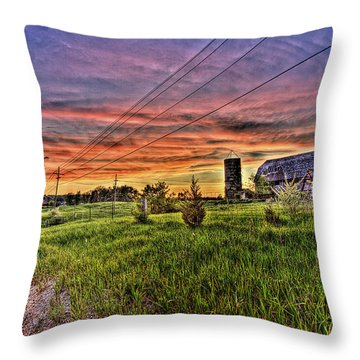 Barn Finds Throw Pillow