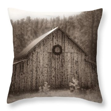 First Snow In November Throw Pillow