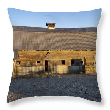 Barn In Rural Washington Throw Pillow