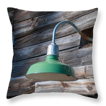 Barn Light Throw Pillow by Guy Whiteley