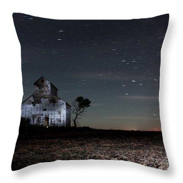 Barn Night Throw Pillow