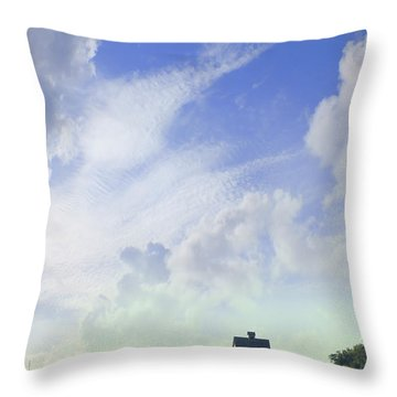 Barn On Top Of The Hill Throw Pillow by Mike McGlothlen