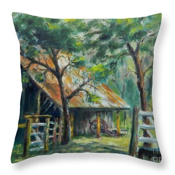 Barn Quilt Throw Pillow
