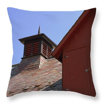 Barn Roof Throw Pillow