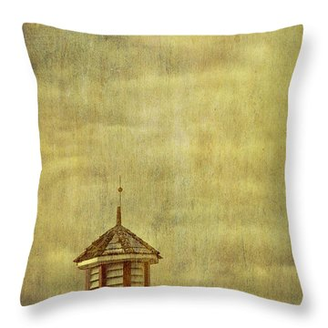 Barn Rooftop With Weather Vane Throw Pillow