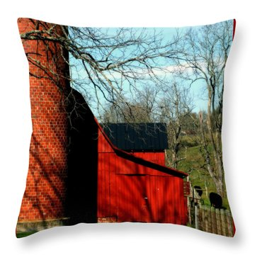 Barn Shadows Throw Pillow by Karen Wiles