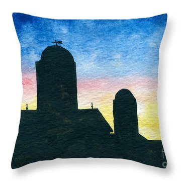 Barn Silhouette 2 Throw Pillow