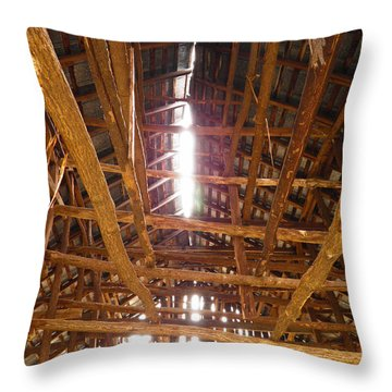 Throw Pillow featuring the photograph Barn With A Skylight by Nick Kirby