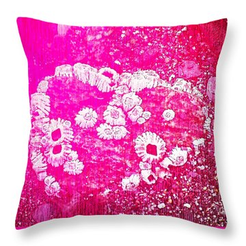Barnacle Heart Throw Pillow by Cynthia Lagoudakis