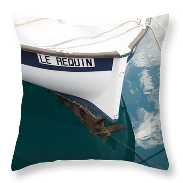 Throw Pillow featuring the photograph Barnacles On The Anchor by Michael Flood