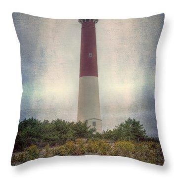 Barnegat Lighthouse Dawn Throw Pillow by Joan Carroll