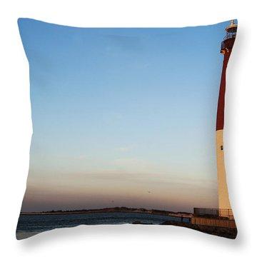 Barnegat Lighthouse Throw Pillow by Elsa Marie Santoro