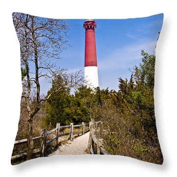 Barnegat Lighthouse II Throw Pillow