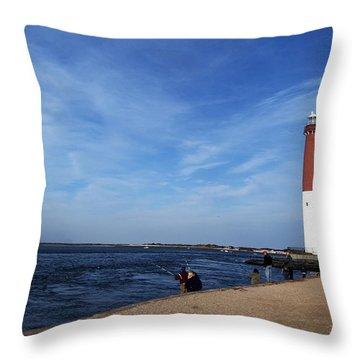 Barnegat Lighthouse Lbi Nj Throw Pillow by Elsa Marie Santoro
