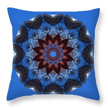 Barnegat Lighthouse Mandala Throw Pillow
