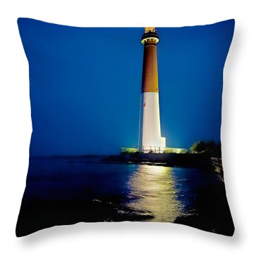 Barnegat Lighthouse Throw Pillow