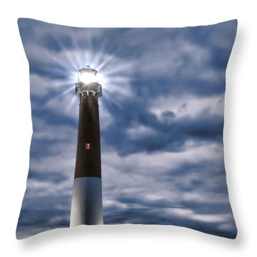 Throw Pillow featuring the photograph Barnegat Magic by Olivier Le Queinec