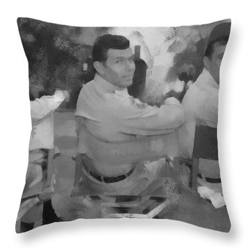 Barney Andy And Gomer Throw Pillow