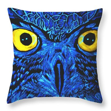 Throw Pillow featuring the painting Barney Black Light View by Lisa Brandel