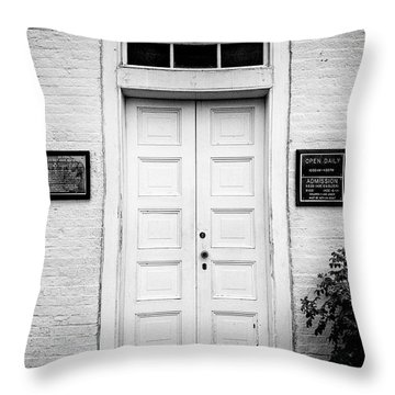 Barney's Doors Throw Pillow