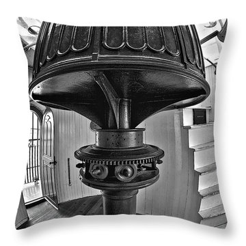 Barney's Gears In Black And White Throw Pillow