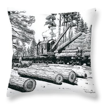 Barnhart Log Loader Throw Pillow