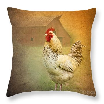 Barnyard Boss Throw Pillow