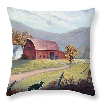 Barnyard Sentinel Throw Pillow