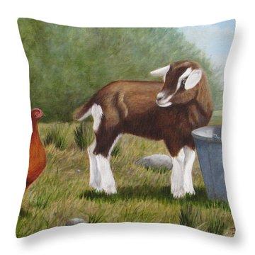 Barnyard Talk Throw Pillow