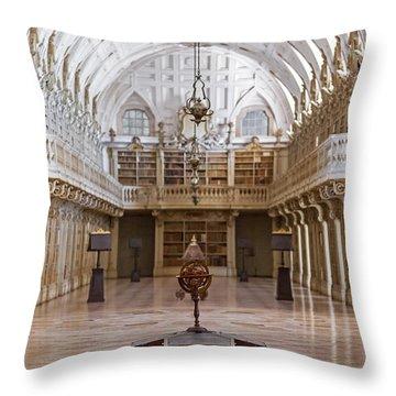 Baroque Library  Throw Pillow by Jose Elias - Sofia Pereira