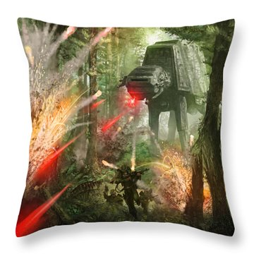 Barrage Attack Throw Pillow