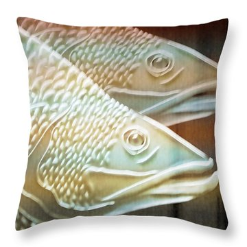 Throw Pillow featuring the photograph Barramundi by Holly Kempe