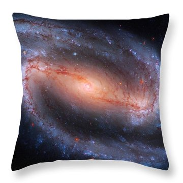 Barred Spiral Galaxy Ngc 1300 Throw Pillow by Don Hammond