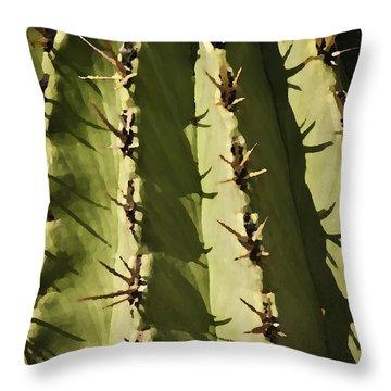 Barrel Cactus Throw Pillow by Sherri Meyer