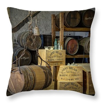 Barrels Throw Pillow by James Barber