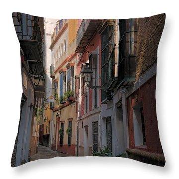 Barrio Santa Cruz Seville Throw Pillow