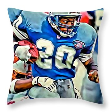 Barry Sanders Throw Pillow