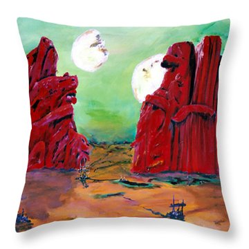 Barsoom Throw Pillow