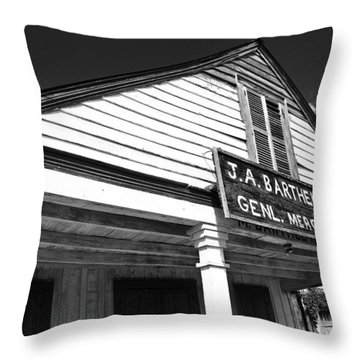 Barthel Store Throw Pillow by Scott Pellegrin