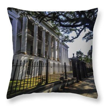 Barton School Throw Pillow