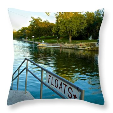Barton Springs Pool In Austin Texas Throw Pillow