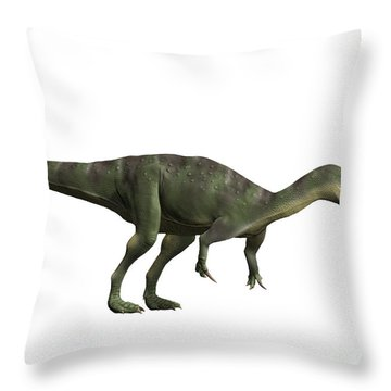Baryonyx Walkeri, Early Cretaceous Throw Pillow by Nobumichi Tamara