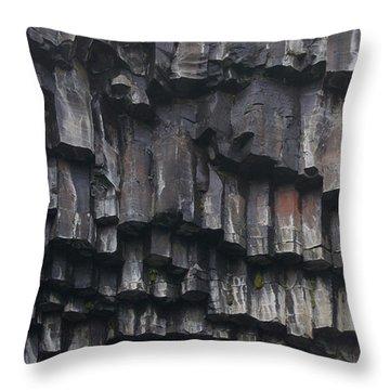 basaltic columns of Svartifoss Iceland Throw Pillow