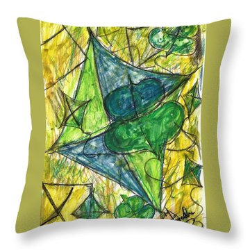 Basant I Throw Pillow