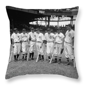 Baseball All Star Sluggers Throw Pillow by Underwood Archives