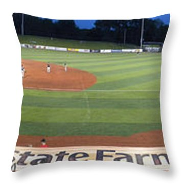 Baseball America's Past Time Throw Pillow by Thomas Woolworth