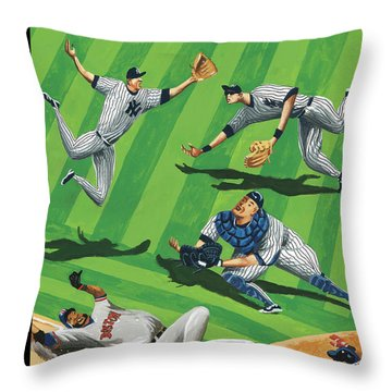 Baseball Ballet Throw Pillow
