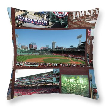 Baseball Collage Throw Pillow by Barbara McDevitt