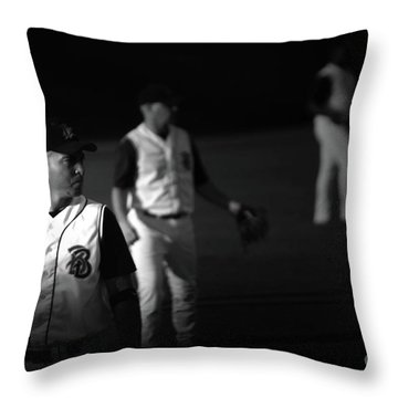 Baseball Days Throw Pillow by Karol Livote