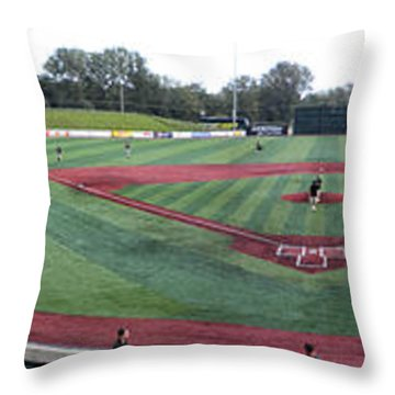 Baseball Early Fan Arrival Throw Pillow by Thomas Woolworth